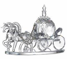 Swarovski Crystal Cinderella Coach (i have one like this) =) Cinderella Coach, Cinderella Wedding, Disney Figurines, Glass Figurines, Swarovski Crystal Figurines, Swarovski Crystals, Crystal Collection, Crystal Wedding, Faceted Crystal