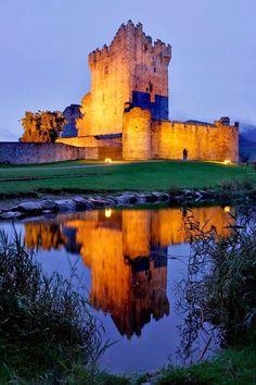 Ross Castle, 15th-century tower house and keep on the edge of Lough Leane, in Killarney National Park, Co. Kerry, Ireland.