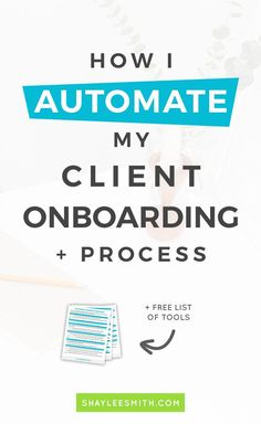 Onboarding your client is very important but often overlooked by new business owners. Find out the tools and techniques I use to help automate my client onboarding process and setup systems for my business.