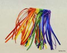 Rainbow Waterfall Satin Ribbon Barrette Red Orange by SpritelyGirl, $5.00  GREAT for Daisies Bridging to Brownies / Girl Scout Ceremony Rainbow Braided Barrette by SpritelyGirl on Etsy, $5.00