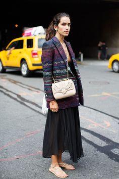 Chiara throwing some cool around in NYC. #ChiaraTotire #TheSartorialist