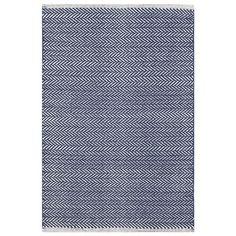 Dash & Albert Herringbone Indigo Cotton Woven Rug