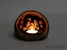 Cute Monster / Lantern  / Candle Holder / Statuette / Diorama / Unique / Sculpture / Figurine / Hand Made / Ceramics / Gift for Her / (257) by Euble on Etsy