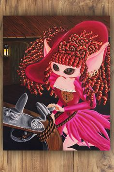 """She Said; I'm not for Sale  - 11x14"""" Reproduction Print - Muse inspired by the Red Head Pirates of the Caribbean - MuseArt"""