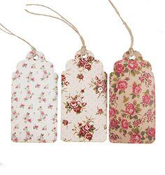 https://www.sassandbelle.co.uk/Set of 15 Vintage Rose Tag Assorted