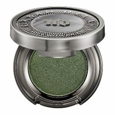 Urban Decay Eyeshadow in Bender - forest green metallic with gold micro-glitter #sephora