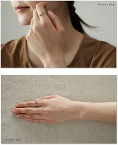 Silver spiral Ring 스키니팝 나선형반지 925실버반지 은반지 순은반지 레이어드반지 패션반지 유니크 반지 고급실버반지 특이한 반지 Silver925 : 스키니팝