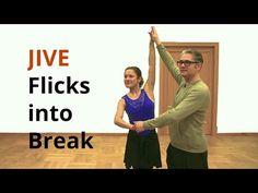 How to Dance Jive Flicks into Break / Ballroom Dance - YouTube