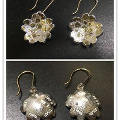 【arniefukui】さんのInstagramをピンしています。 《I have just put gold earring parts to finish these cherry blossom design 🌸🌸 with 2 little pink diamonds ( total 0.05ct ) which I made a couple of weeks ago 😋 I think this is my first time that I made earrings by silver in my life .. 🤔 by KocAÄ silver art & design 🇯🇵 #silverjewelry #silverjewellery #silver925 #gold #handmade #contemporaryjewellery #diamond #earrings #jewelry #jewellery #japanesejeweler #jewellerymaking #jewelleryworkshop…