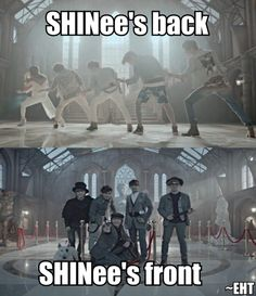 SHINee's back SHINee's front