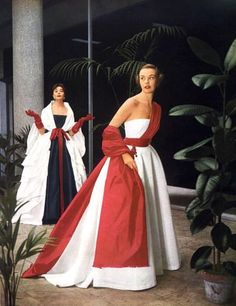 Evening gowns by Christian Dior, 1952 - One of my favorite designers!
