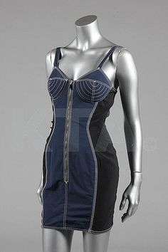 Dress Jean-Paul Gaultier, mid-1980s Kerry Taylor Auctions - OMG that dress! I chose this picture because the special design of this dress! Please pay attention to the chest of the dress!