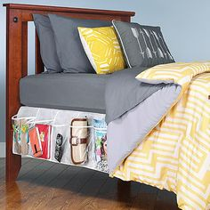 Yes please!! Bed Skirt Pocket Organizer.