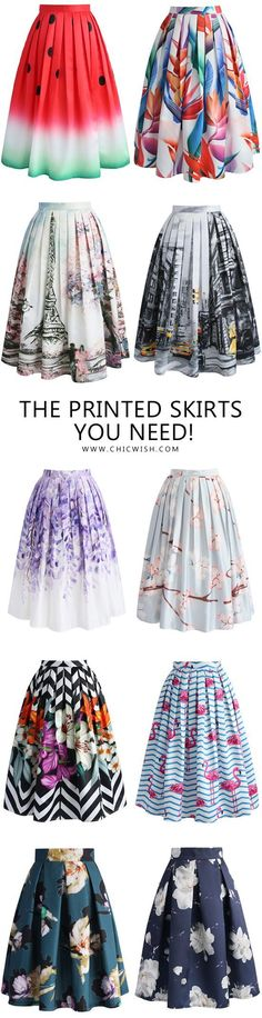 Colorful printed midi ON SALE!
