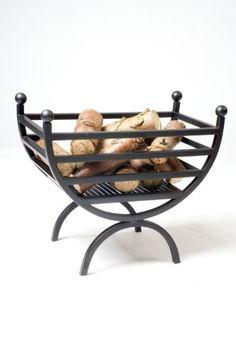 Renaissance Style Curved Log Basket - Black Iron - 9.6kg: Amazon.co.uk: DIY & Tools