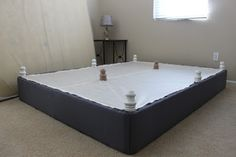 DIY Upholstered Box Spring in place of a bed frame