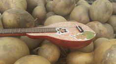 Dan McNamara visited welburn gourd farm and brought with him his gourd ukulele.