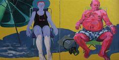 Arthur Arnold / Mary and Jhon / Acrílica sobre tela - 2011 - 90 x 180 cm