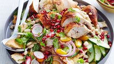 Pomegranate, Chicken and Sumac salad