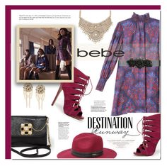 """Destination Runway with Bebe : Contest Entry"" by rosie305 ❤ liked on Polyvore featuring Bebe, Louis Vuitton, beiconic and rosie305"