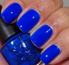 Opi Blue Nail Polish Beautiful Opi Blue It Out Of Proportion Collection Get Nails, Fancy Nails, How To Do Nails, Fabulous Nails, Gorgeous Nails, Pretty Nails, Opi Blue Nail Polish, Nail Polish Colors, Neon Blue Nails