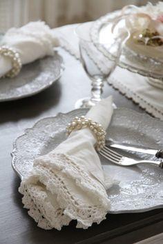White table napkin