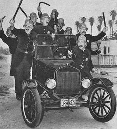 The Keystone Cops was a series of silent film comedies featuring a totally incompetent group of policemen who frequently were part of train . Keystone Cops, Timeless Series, Silent Film, Silent Comedy, Old Tv Shows, Female Friends, Arte Pop, About Time Movie, Old Hollywood