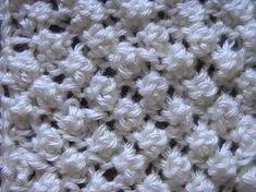 ▶ 12. Comotejer Punto Garbanzo Popcorn Stitch en 2 agujas - YouTube