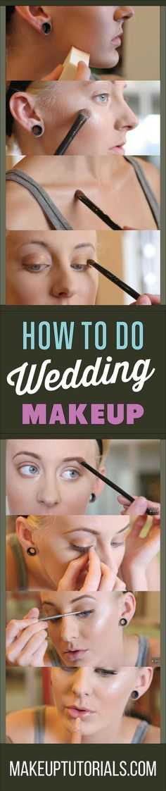 How To Do Cool Wedding Makeup Tutorials | Beautiful Wedding Makeup Ideas By Makeup Tutorials. http://makeuptutorials.com/wedding-makeup-makeup-tutorial/