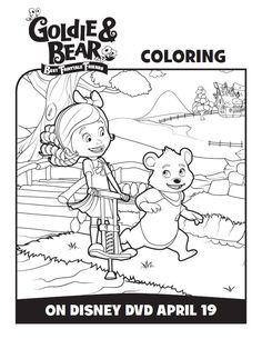 Join Goldie & Bear on a fun adventure! Have fun coloring these Goldie and Bear coloring pages and activity sheets with your little one.