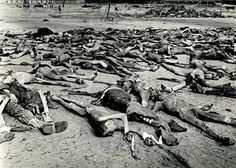 Bergen-Belsen Concentration Camp, Germany, 1945 - Corpses scattered in the camp after the camp's liberation on April 15, 1945 by the British 11th Armoured Division.