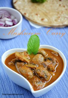Mushroom curry is a delicious vegan curry prepared with button mushrooms simmered in onion and tomato based gravy.
