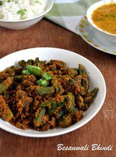 Besanwali Bhindi Sabzi | Okra Recipes ~ Indian Khana