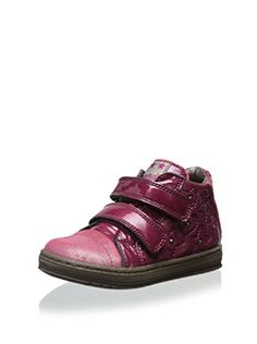 Romagnoli Kid's Quilted Sneaker with Studs (Vernice Rose/Vernice Rosa Pink Lack)