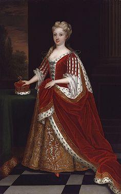 Princess of Wales Caroline Caroline Wilhelmina of Brandenburg-Ansbach by Sir Godfrey Kneller after 1716 original with Royal Collection (National Portrait Gallery, London)