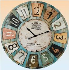"Extra Large Wall Clock 23"" 59cm Bold Centrepiece Wallclock or Mantel Clock: Amazon.co.uk: Kitchen & Home"