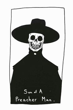 Matt Bailey - Awsome illustration Preacher Death Choice of Life Recreation Matt Bailey, Silkscreen, Skeleton Art, Southern Gothic, Skull Art, Dark Art, Art Inspo, Cool Art, Art Drawings