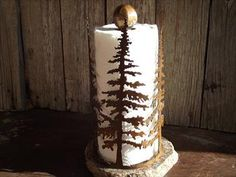 Just in time for Christmas!   Paper Towel Holder  Rustic  Hand made   One of a kind   by PatesMetalWorkShop, $115.00