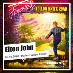 Elton John ✨ 06.10.2020 ✨ Hallenstadion Zürich  ⭐ VVK-Start Live Club: 11.10.2019, 8 Uhr | live-club.ch 🎟️ VVK-Start: 14.10.2019, 8 Uhr Elton, Pop Rocks, Live, Movie Posters, Movies, Biography, Clock, Pictures, Film Poster
