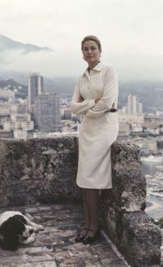 Grace & Family:  Portrait of Princess Grace on the terrace of the Royal Palace of Monaco, 1973.