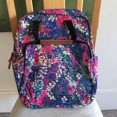 •Printed Backpack• Fun printed backpack. Has handle straps and reg adjustable backpack straps. front pocket, side pockets. SO CUTE!! Brand new in packaging! Measurements laying flat: 17in. Long, 16in wide. Bags Backpacks