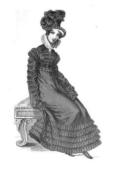 Carriage costume from La Belle Assemblée (Feb 1820)