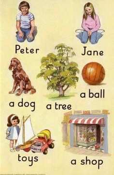 "Peter and Jane ""Play with Us"" Ladybird book. Remember reading these at school 1980s Childhood, My Childhood Memories, Sweet Memories, Ladybird Books, Children's Literature, My Memory, Old Toys, Vintage Books, Childrens Books"