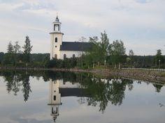 het mooie kerkje in zweden