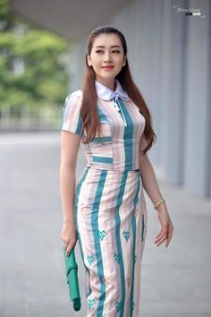 Visit the post for more. Traditional Dresses Designs, Myanmar Dress Design, Burmese Girls, Myanmar Traditional Dress, Myanmar Women, Girl Fashion, Fashion Outfits, Ao Dai, Beautiful Asian Girls