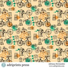Adriana Hernandez | Bicycles | The Ultimate Portfolio Builder | May 2015 class | The Art and Business of Surface Pattern Design | Make it in Design