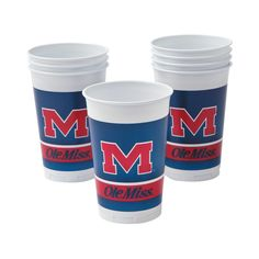 NCAA(TM) University of Mississippi Plastic Cups