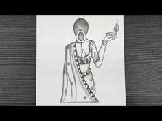 Beautiful Traditional Girl Holding A Diya || Girl Drawing Easy || Diwali Drawing || Pencil Drawing - YouTube Beautiful Girl Drawing, Diwali Rangoli, Pencil Drawings, Poses, Youtube, Art, Figure Poses, Craft Art, Pretty Girl Drawing