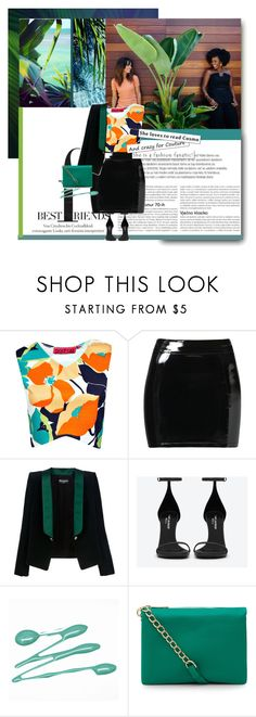 """""""Better than Money"""" by trudith ❤ liked on Polyvore featuring Boohoo, Evil Twin, Balmain, Yves Saint Laurent, Accessorize, Pink, colors and fushia"""