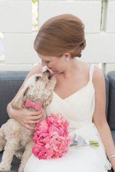 Kisses // For the #bride  #dog #wedding #photography